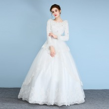 Vintage Casamento Feather Wedding Dress Cheap In Stock Wedding Gown Vestido Noiva Lace Bridal Gowns Mariage Dress For Party