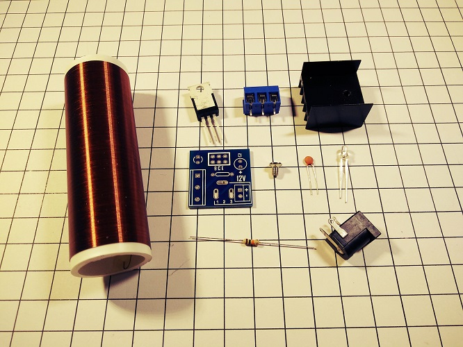 Mini Tesla Coil Kit Electronic Science and Technology of Production of DIY Parts озонатор бытовой days of science and technology tm017 5g h