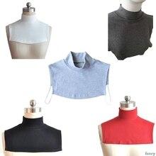 Faux collier tricoté pour hommes et femmes, Extensions Hijab islamique, pour cou et poitrine, couverture arrière, écharpe Modal, collier musulman, tendance solide