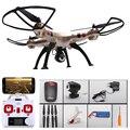 SYMA X8W Versão Atualizada X8HW 2.4G 6-Axis RC Quadcopter Wi-fi Real-Time Drone com HD Camera Alta Hover Rolo 3D RC helicóptero
