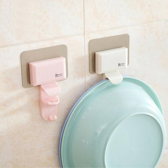 ZIDUKE The Wall of Basin Hook Bathroom Toilet Creative Non trace ...