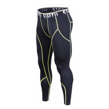 b7d927db32 Men Running Tights Black with Red or Green Lines Basketball Tight Jerseys  Quick Dry Yoga Sportswear
