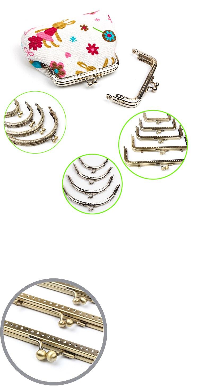 Горячая монета DIY металлический Ретро Кошелек Рамка Поцелуй застежка замок для клатч сумка аксессуары бронзовый тон сумка фурнитура 6 см 8,5 см 11 см