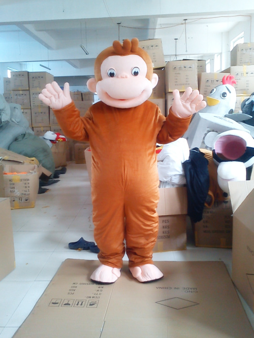 """2018 Naujas geltonosios beždžionės karikatūros simbolių kostiumas """"Cosplay"""" talismano individualus gaminys Nemokamas pristatymas"""