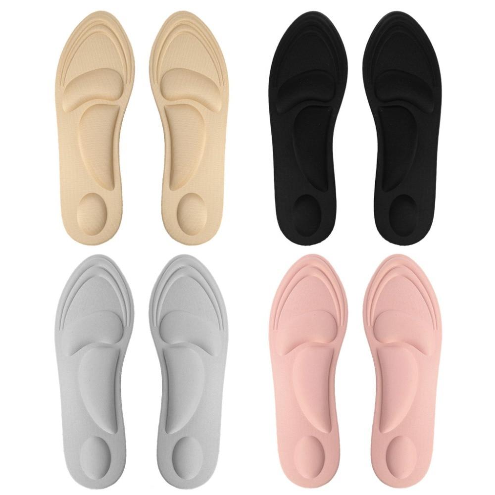 Shoe Pads 4D Sponge Massage Pain Relief Soft Elastic Women High Heel Plantar Insole Cushion Arch Support Insert Comfort Pad