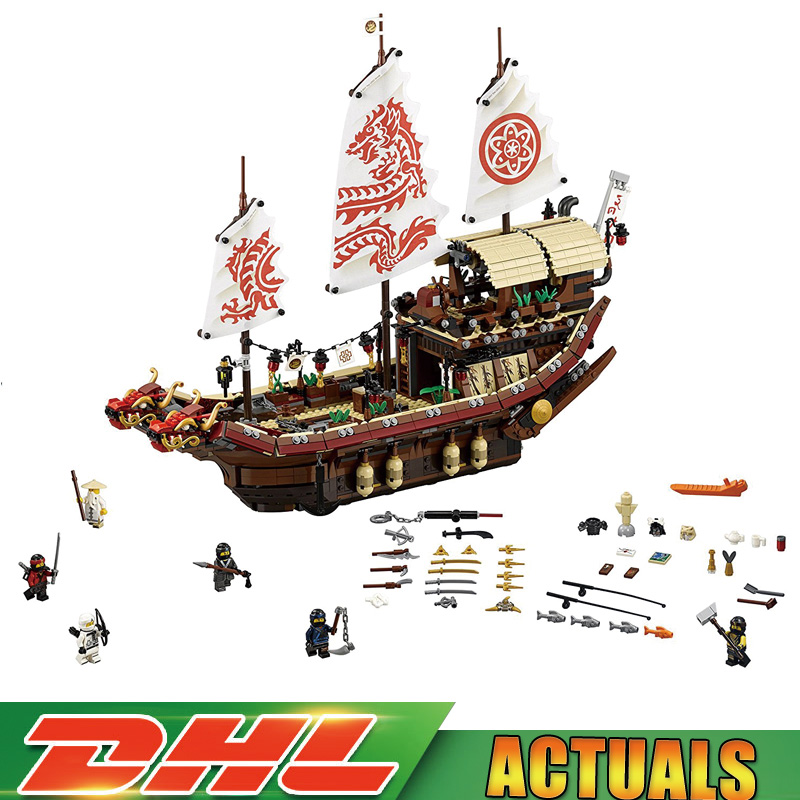 Compatible LegoINGlys 70618 The Destiny`s Bounty Set Assemblage Ship Series Building Blocks Bricks Educational Toys for Children lepin 06020 final flight of destiny s bounty 1325pcs ninja building blocks toys for children gifts compatible legoinglys 70738
