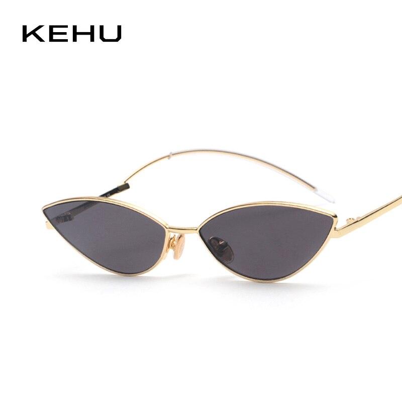 KEHU Frauen Mode Cat Eye Sonnenbrille Trendy Sonnenbrille Hohe Qualität Legierung Rahmen Gekrümmte Bein Design Sonnenbrille Frauen UV400 K9504