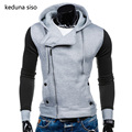 Side Zipper Hoodie Men 2017 Spring Autumn Casual Cardigan Assassin Creed Spell color Hoodies Hip Hop Sweatshirt Outerwear Jacket