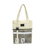 Shoulder Bag Women Canvas Shopping Bag Reusable Foldable Eco Friendly Products Tote Bags Bolsos Ecologicas Shop Handbag 50Z0004