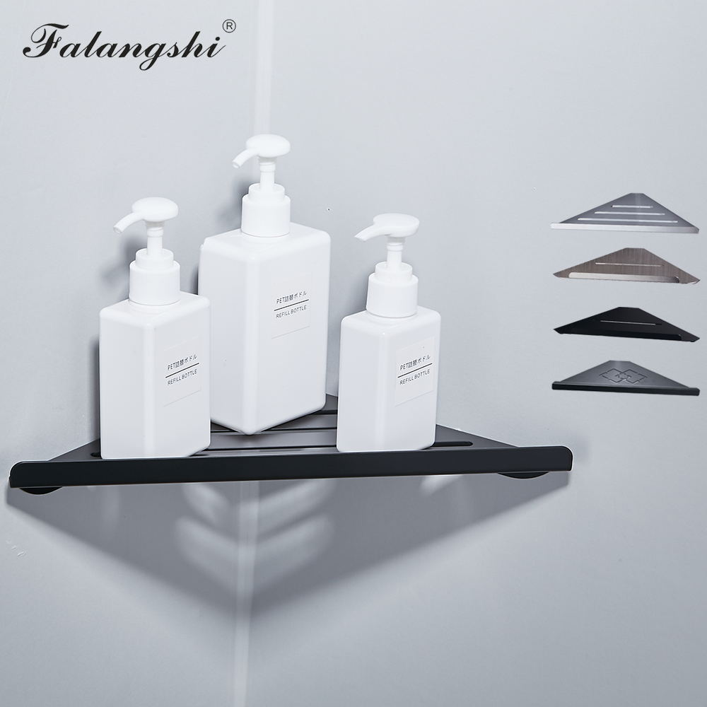 Bathroom Shelf Single Layer SUS 304 Triangular Rack Bathroom Accessories Storage For Shampoo Soap Cosmetic Basket Holder WB8001