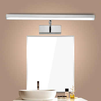 LED Mirror light 6W 8W 40cm 56cm Stainless+Acrylic Modern Decor Lighting Bathroom Lamp Bedroom Foyer Study Sconce warm/white