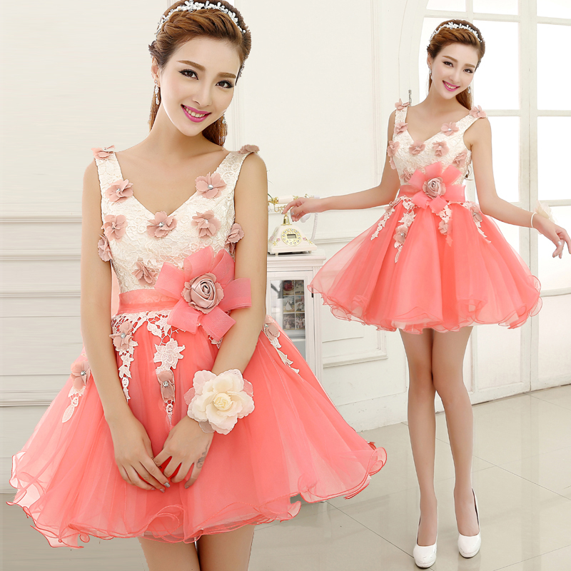 robe de soiree woman elegant women formal pink v neck sleeveless   cocktail     dresses   for party ball gown vestido de   cocktail