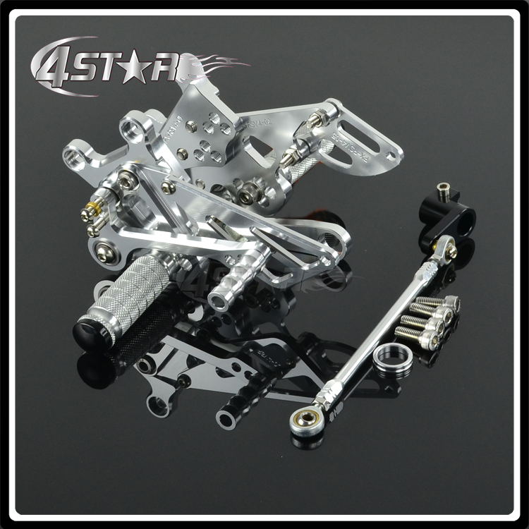 CNC Adjustable Foot Pegs Pedals Rests For Aprilia RSV4 2009-2013 2009 2010 2011 2012 2013 Motorcycle