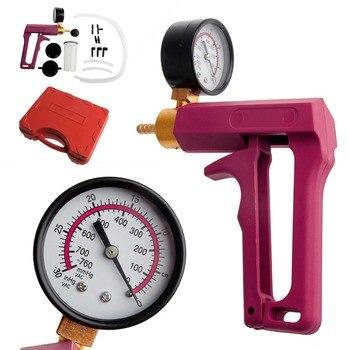 Brake Bleeder Pump | QILEJVS Cars Motorcycles Hand Held Vacuum Tester Pump Brake Bleeder Gauge Tool Kit