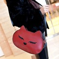 women restore ancient  shoulder bags messenger handbags women cat cartoon pu body cross bags