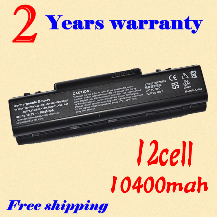 JIGU New Laptop Battery AS07A51 AS07A52 AS07A71 For <font><b>ACER</b></font> Aspire 4730Z 4732Z <font><b>4736</b></font> 4736G 4736Z 4740 4740G 4920 4920G 4925G 4930 image