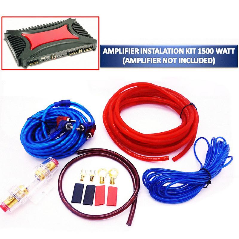 1 Set Car Power Amplifier Installation Kit Auto Car Speaker Woofer Subwoofer Cables Audio Wire Wiring Line With Fuse Suit yiyelang yh 128 1200w car amplifier audio installation wires cables kit red blue