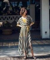 Summer Bohemian Ethnic Style Beach Holiday Dress Elegant Hippie Two piece Chiffon Dress Boho Irregular Long Maxi Folk Dresses