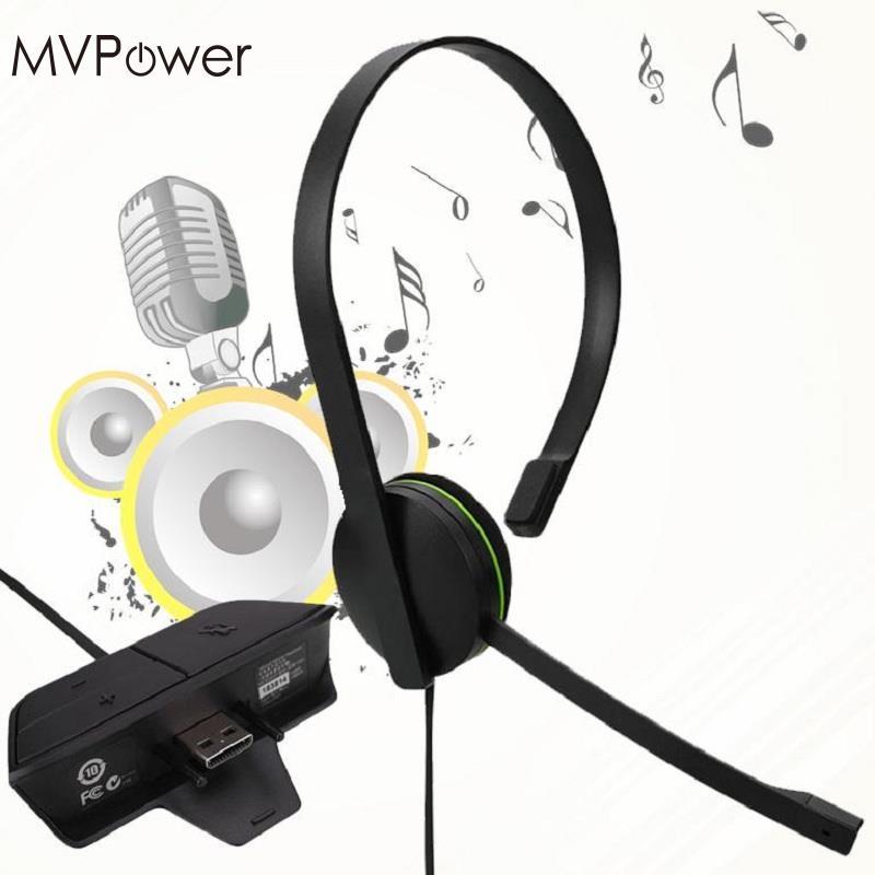 все цены на  MVpower 120cm Wired Chat Chatting Gamer Headset Headsets Headphone With Mic For Xbox One for Microsoft Black  онлайн