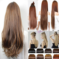 "5Clips mega hair Synthetic Clip in Hair Extension Straight 22/26/30"" More Color Women Hairpiece Accessories"