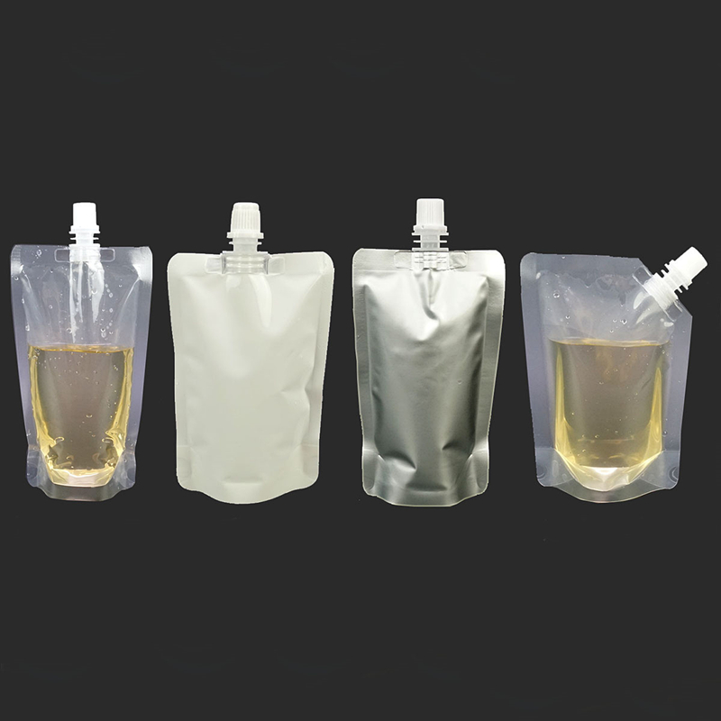 50pcs/lot 100ml Aluminum Foil Empty Washing Liquid Plastic White/Clear Lotion Pouch Bags Portable Stand Up Packaging