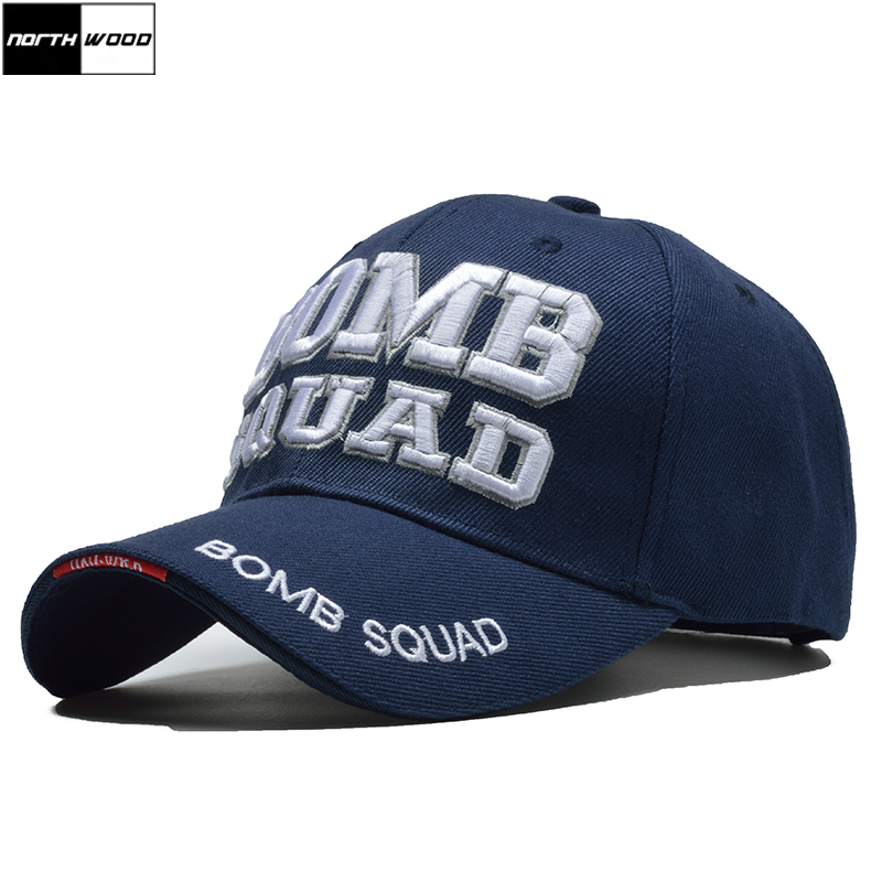 [NORTHWOOD] 2018 New Tactical   Cap   Army   Baseball     Cap   Men BOMB SQUAD Letter Casquette Homme Bone Masculino Snapback