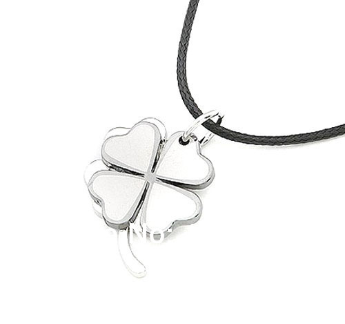 new couple style four leaf clover outdoor fun & sports necklace silver