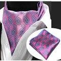 LJT02A Novo Lenço Conjunto Gravata dos homens Geométrica Paisley Floral Gravata De Seda Tecidos Lenços de Bolso Gravata borboleta gravata Esquadro Lenço Terno