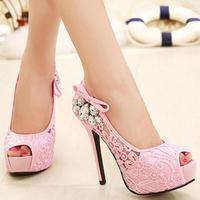 Kadın sapato yaz seksi dantel sandalet Zapatos Mujer bayanlar peep toe kadınlar pompalar ultra yüksek topuklu düğün platformu ayakkabı PL17983