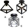 (Wecus) Indústria loft lâmpadas de teto, Restaurante sala de estar corredor corredor varanda gaiola triângulo teto do escritório da porta da frente luz