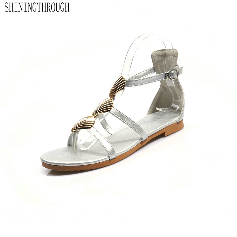 2019 Top Quality Leather Women Sandals Mixed Colors Square Heel Summer Shoes Buckle Casual Shoes Woman Large Size 42 43