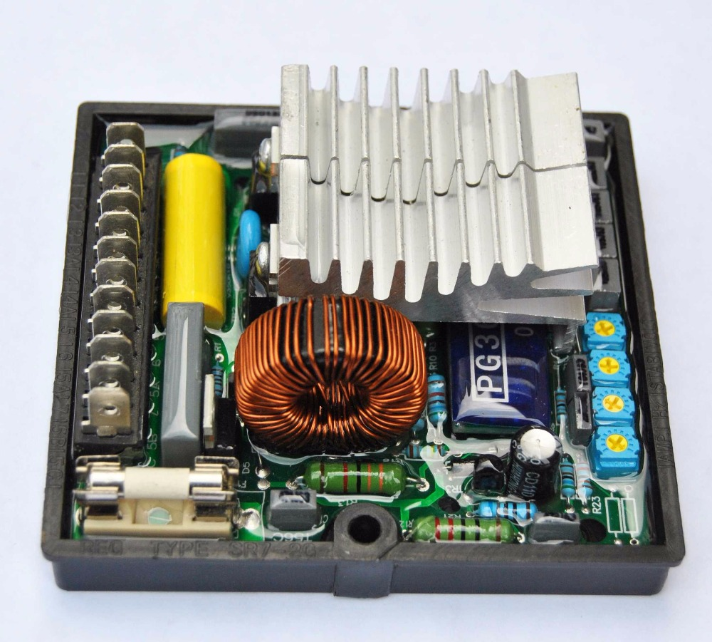 SR7 AVR Automatic Voltage Regulator Stabilizer programmable integrated circuit Diesel Generator set alternator part gs2964 ine3 integrated circuit mr li