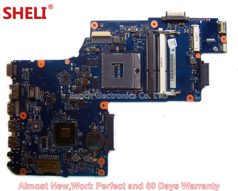 SHELI NEW H000038370 Laptop Motherboard For Toshiba Satellite C850 C855 L850 L855 PLF/PLR/CSF/CSR UMA HD 4000 Main Board