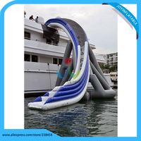 Yacht Slide Inflatables Water Games Customized Inflatable Slides For Yacht Cruiser High Water Slide On Sea