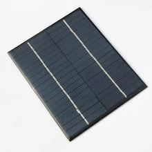 Эпоксидная модуль солнечной батареи 2 Вт 18 в поликристаллическая солнечная панель для 12 V панели солнечных батарей Системы образования 136*110 мм 2 шт