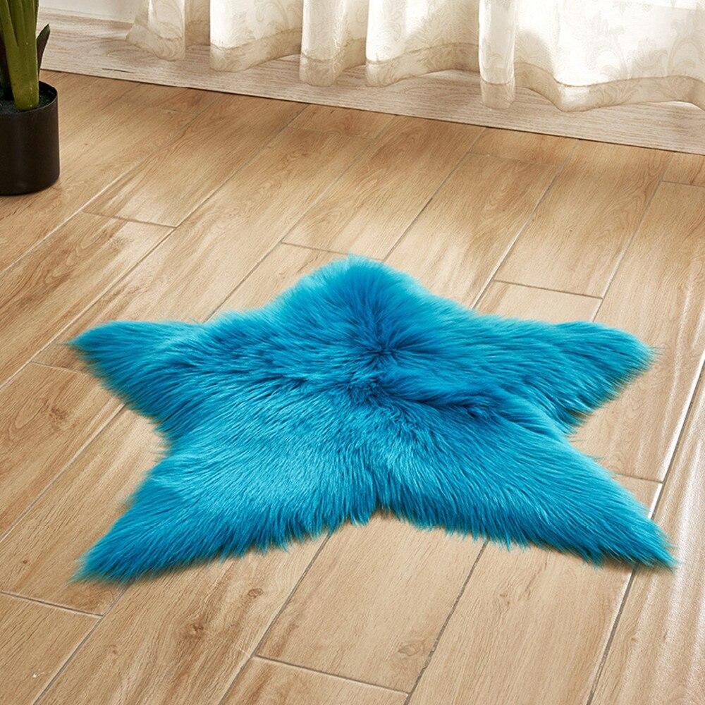 Pentagram Floor Mat Non Slip Rug Mats Hairy Soft Fluffy