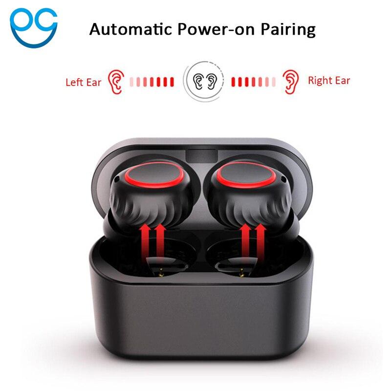 Мини 5,0 Мини Bluetooth гарнитура стерео наушники AIRPRO Air Pods беспроводные наушники для Iphone 6/7/8/плюс Xiaomi гарнитуры