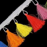 1yard Multicolors Lace Ribbon Tassel Fringe Trim Lace Venise Motifs Applique For For Curtain Latin Dress