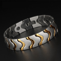 Fashion Jewelry Magnetic Health Care Elements Magnetic FIR Germanium Titanium Bracelets For Men