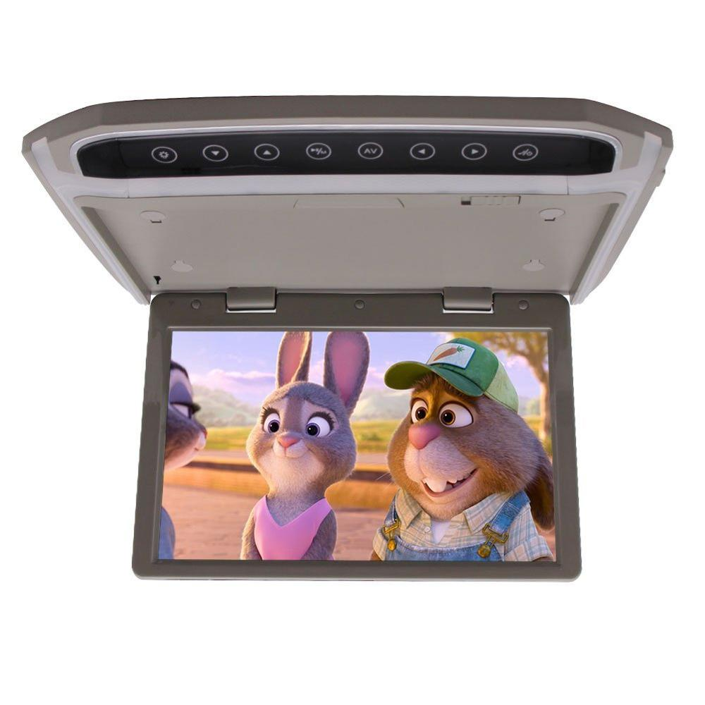 HD 10.2 inch Over head LCD Monitor Car Roof-mount Display Flip down Monitor Supprt 1080P HDMI SD Built-In FM with Remote Control 9 inch tft lcd car hdmi monitor roof mount ceiling flip down for peugeot display dvd player with two video input slim hd monitor