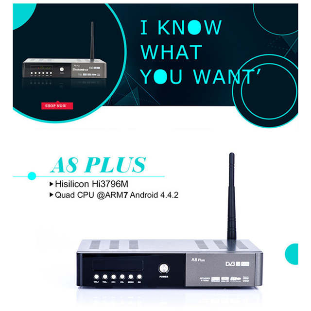 IKS receiver Smart tv box android satellite receiver DVB S2+