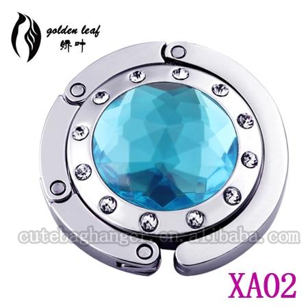 Shining Blue Acrylic Fashion Bag Hook For Ladies