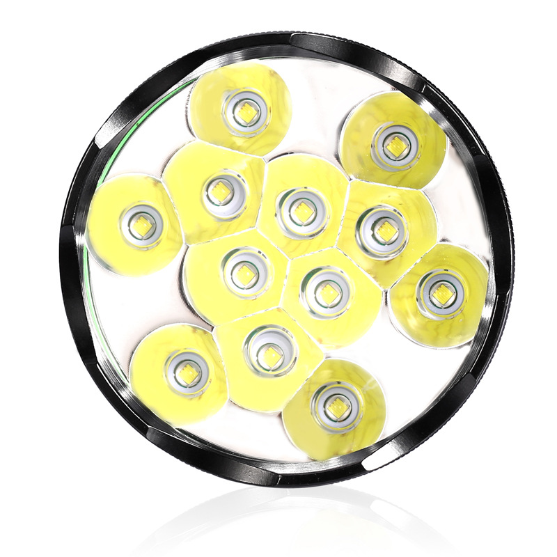 12 LED CREE XM-L T6 haute puissance en alliage d'aluminium 5 lampe de poche LED à modes pour la randonnée Camping chasse haute qualité 12 LED lampe torche
