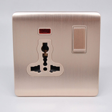Multifunctional Socket With Lamp For British Saudi Arabia AC 110~250V