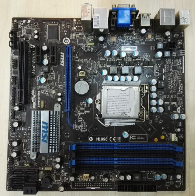 MSI original desktop motherboard H55M-E33 H55M-P31 LGA 1156 DDR3 for i3 i5 i7 cpu 16G VGA H55 motherboard