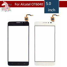 For Alcatel One Touch Idol X OT6040 6040 6040D 6040E 6040A Touch Screen Digitizer Sensor Outer Glass Lens Panel Replacement free 3m tape new for 4 5 texet tm 4872 x medium plus outer touch screen digitizer panel glass sensor replacement free ship