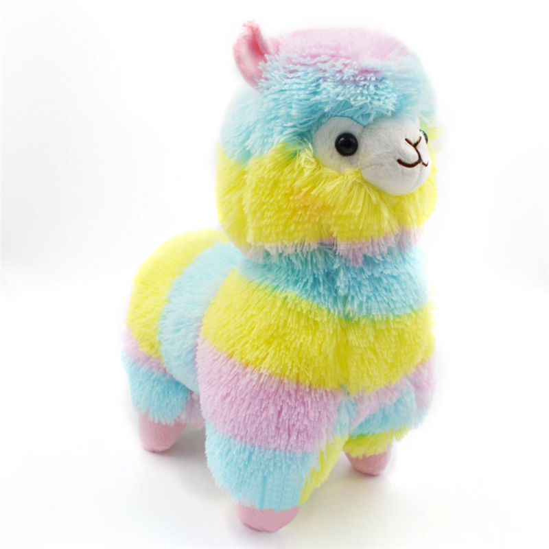 2017 High Quality 13CM Colorful Kawaii Alpaca Llama Arpakasso Soft Plush Toy Doll Gift Cute Toys Great Soft Toys Drop Shipping llama llama wakey wake