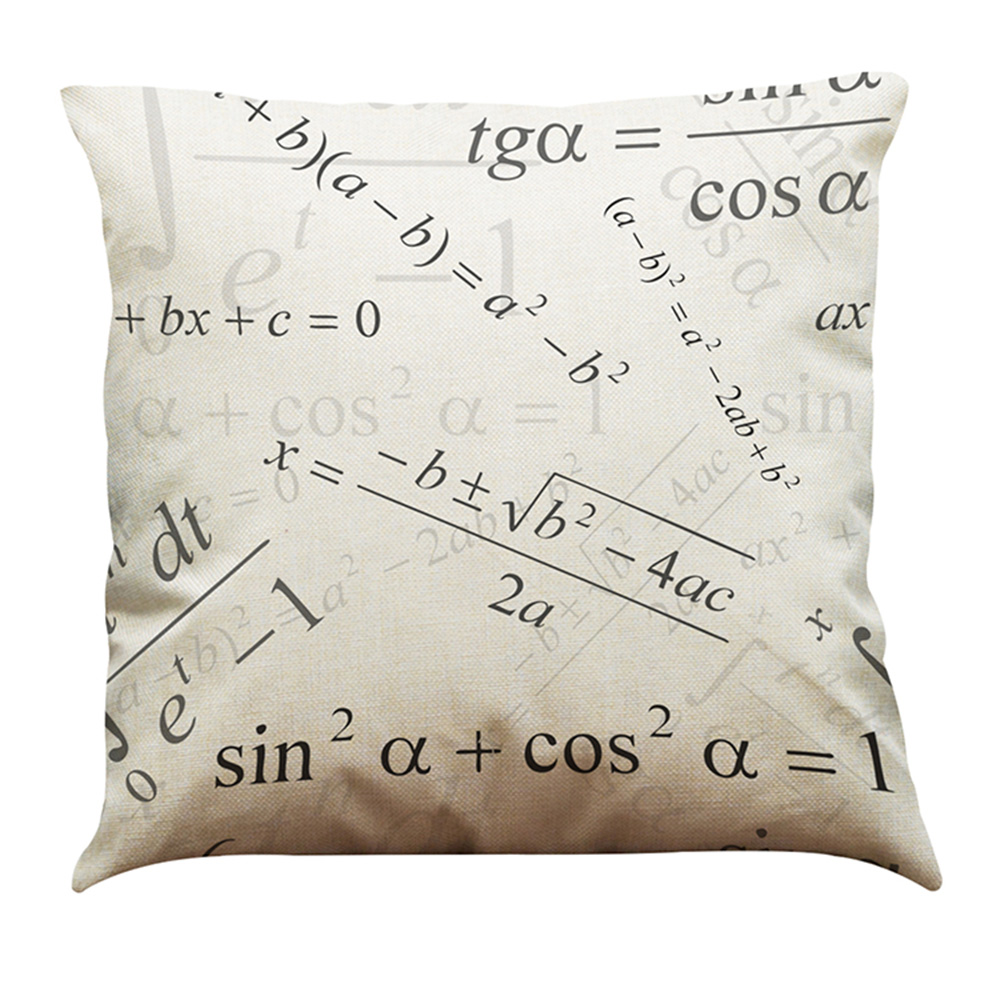 New Fashion Diverse Special Mathematical Chemical Formula Elements Linen Printed Throw Pillow Covers Pillowcases Cushion m