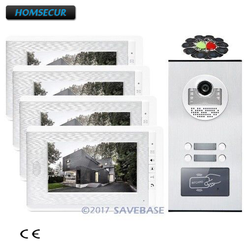 HOMSECUR 7 TFT Video Door Phone Intercom Kit with Outdoor Monitoring for House/Flat