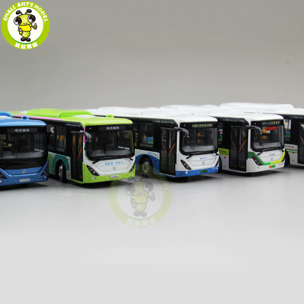 1/64 China Volvo City Bus SWB6128BEV Electric bus Diecast Bus CAR Model Toys for kids children gift 704201 000 [ data bus components dk 621 0438 3s]